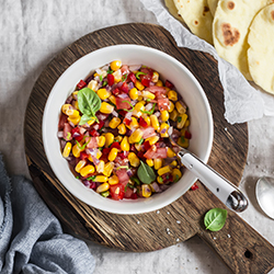 Grilled Corn and Poblano Salsa
