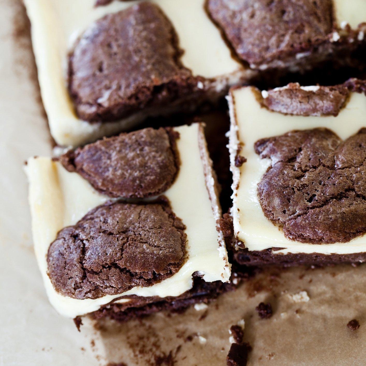 Cow print brownies