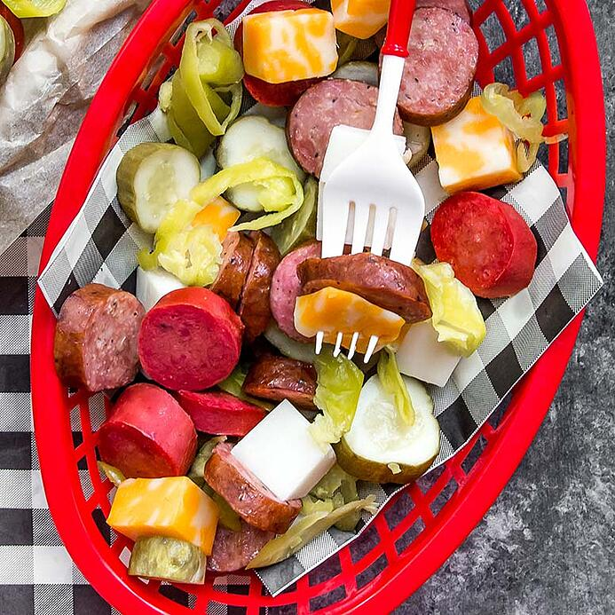 Sausage Cheese and Pickle Platter 1 (1 of 1)
