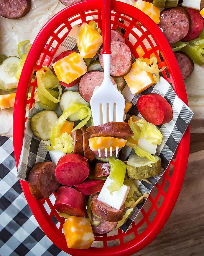 Sausage Cheese and Pickle Platter 2 (1 of 1)