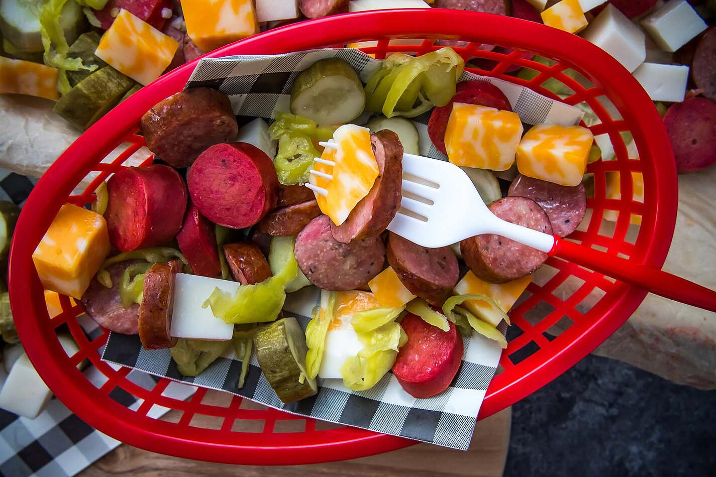 Sausage Cheese and Pickle Platter 3 (1 of 1)