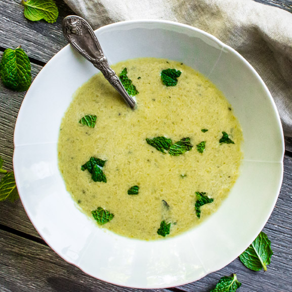 Easter Menu Asparagus Tarragon Soup (1 of 1)