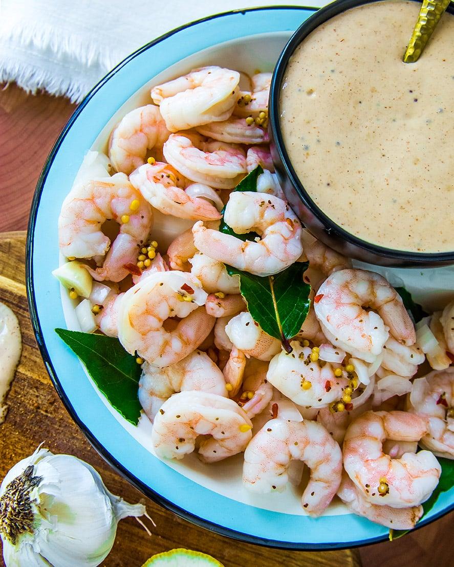 Pickled Shrimp with Combeback Sauce (1 of 1)