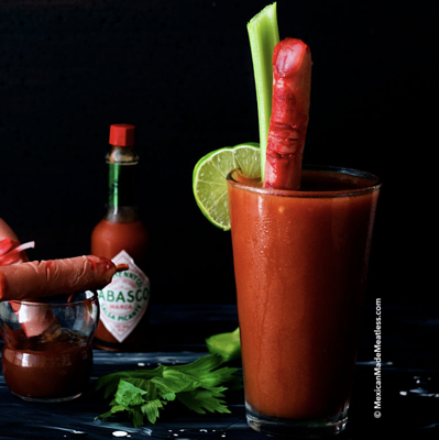 bloody mary with mary's bloody fingers