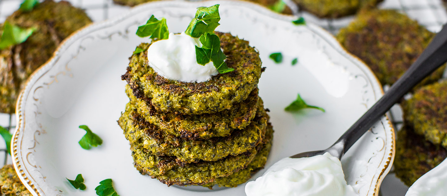 Baked Broccoli and Spinach Fritters 6 (cover)